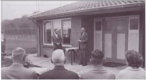 Officiele opening van het clubgebouw op 26 September 1959